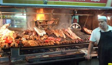 Barbecue parilla in Montevideo, Uruguay