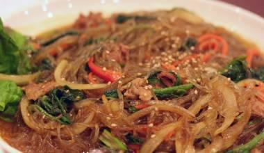 Jap chae Korean vegetables and noodles