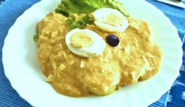 Plate of aji de gallina