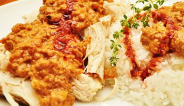 Cerkez Tavugu Recipe (Turkish Circassian chicken with walnut sauce)