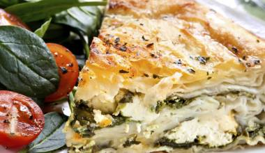 Kotopita Greek chicken filo pie