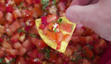Pico de gallo Mexican fresh tomato condiment