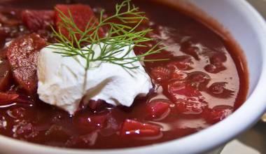Borshch (Ukrainian, Russian beet soup)