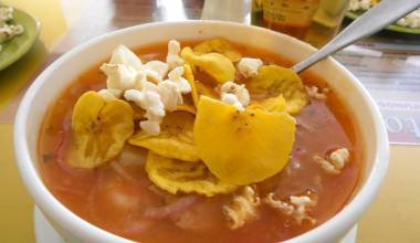 Encebollado Ecuatoriano (Ecuadorian fish and onion stew)