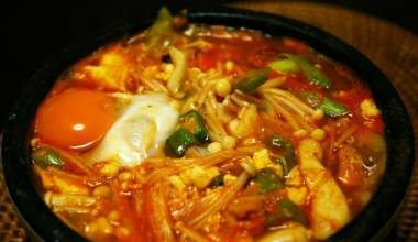 Soon dubu jjigae spicy Korean tofu stew