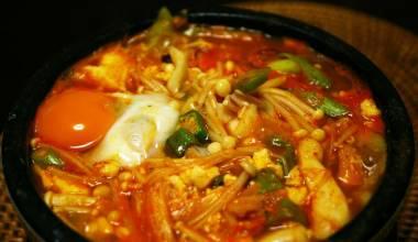 Soon dubu jjigae spicy Korean tofu stew