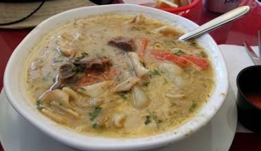 Sopa de Maní (Bolivian peanut soup)