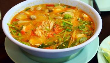 Bowl of tom yum kung