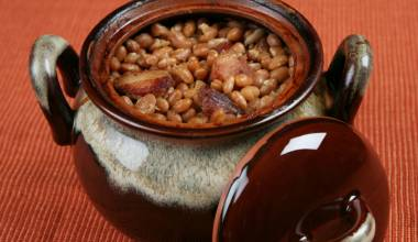 Boston Baked Beans (American white beans baked with molasses)