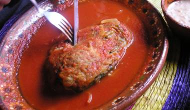 Chiles Rellenos (Mexican stuffed, fried chile peppers)
