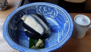 Nasu Japanese eggplant sashimi