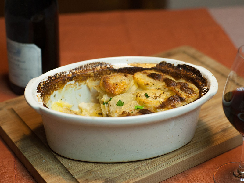 Gratin dauphinois French potatoes baked with cream