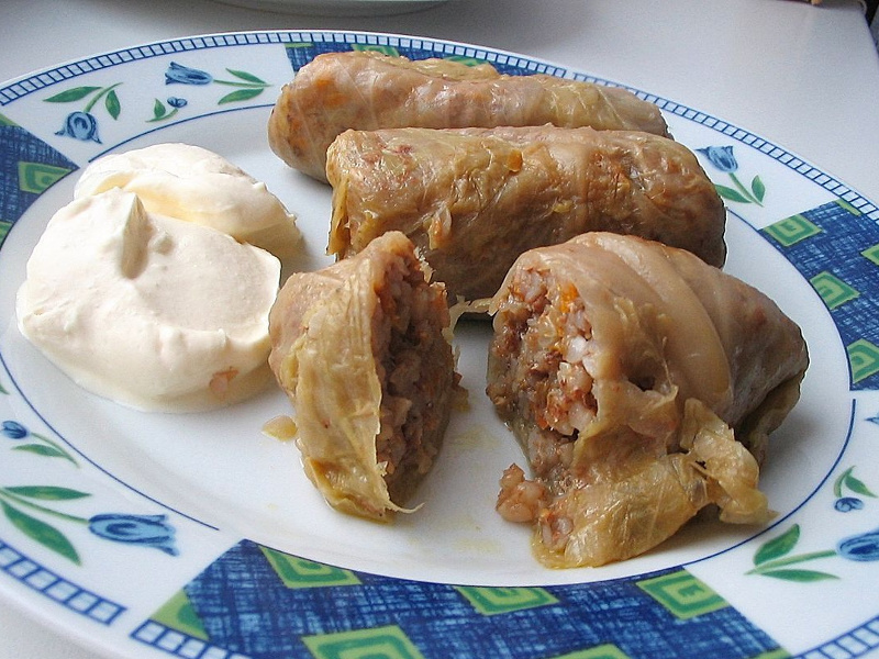 Holubtsi Ukrainian stuffed cabbage rolls