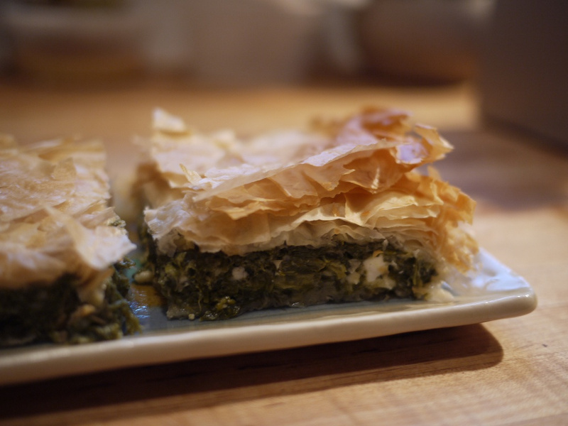 Spanakopita Greek spinach and feta pie