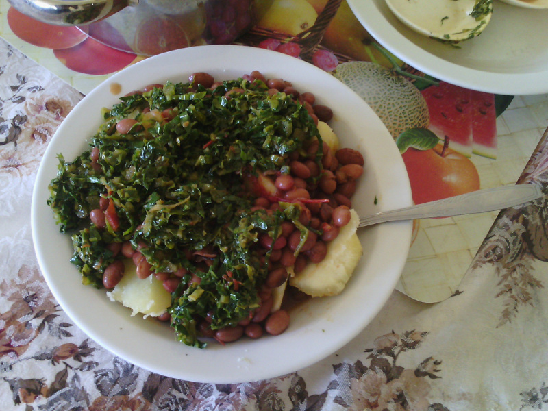 Sukuma Wiki (East African greens simmered with tomatoes)