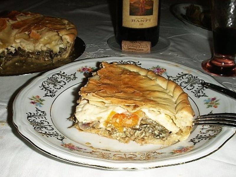 Torta Pasqualina (Italian Easter spinach, ricotta and egg torte)